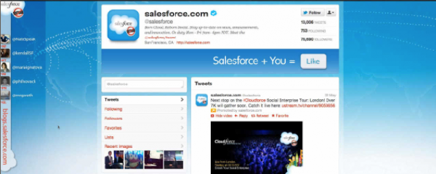 Salesforce.com Twitter