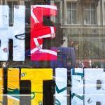 Nike Write The Future ad at the Niketown store on London's Tottenham Court Road