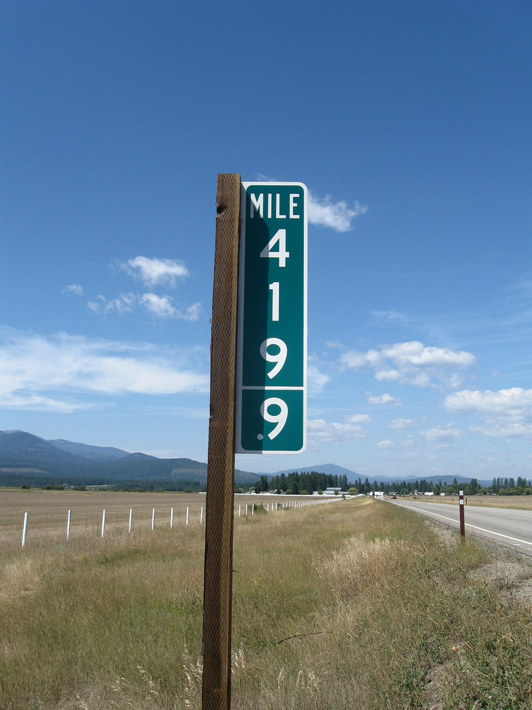 Was this mile marker's location a mistake that had to be amended?