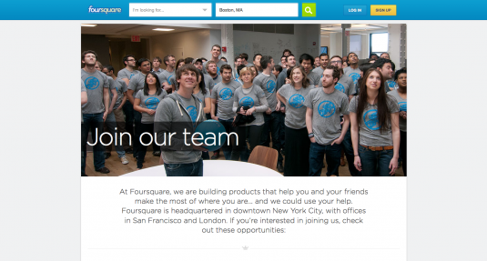 Foursquare Career page