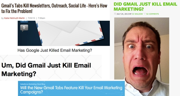 Email Marketers: Gmail Wants to Kill Your Babies (How NOT to React to Gmail Tabs)