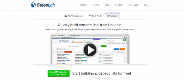 SalesLoft Prospector Tool