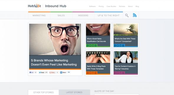 B2B Blog Strategy: HubSpot's New Inbound Hub