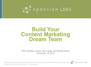 Content Marketing Dream Team