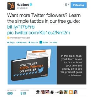 HubSpot Twitter Ad