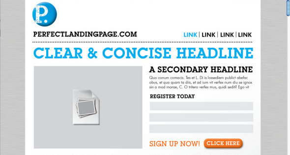 The perfect landing page [INFOGRAPHIC]