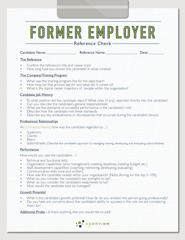 template of letter of recommendation for an employee