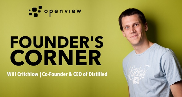 Will Critchlow Founders Corner   OpenView Blog