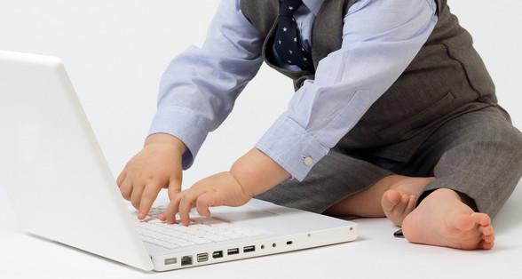 Baby Boy Typing