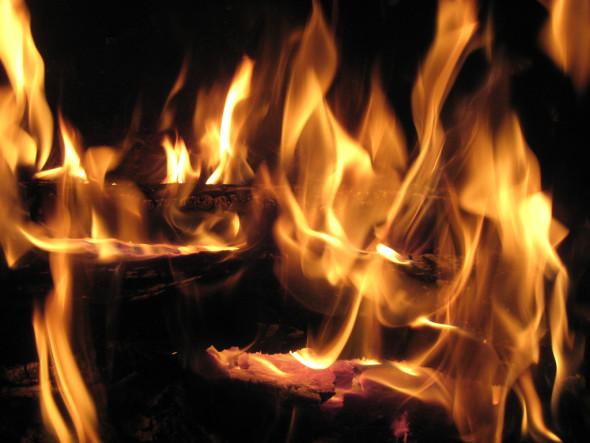 Nice fire keeping us warm
