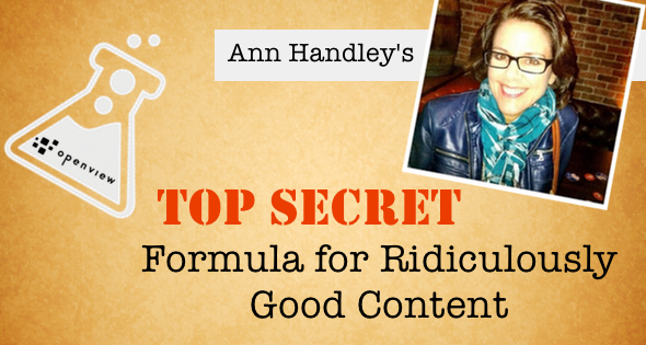 Ann Handley's Formula for Creating Great Content   OpenView Labs