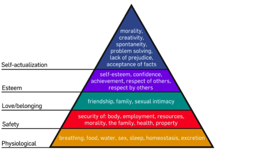 an analysis of the hierarchy of need in the patagonia company Patagonia is capable of partially meeting the bottom four levels of maslow's hierarchy of need without a doubt patagonia provides organic food and drinks in its .
