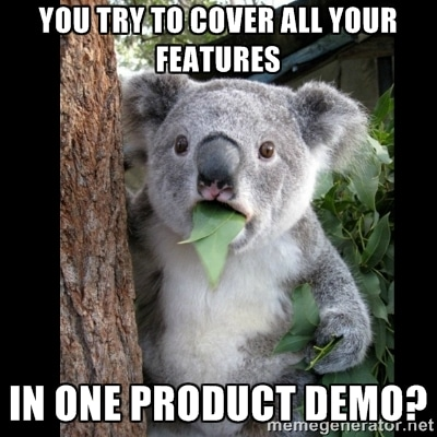 Product Demo Design Tip: Stick to relevant features