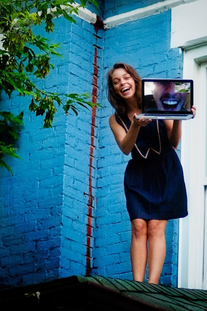 woman video chat