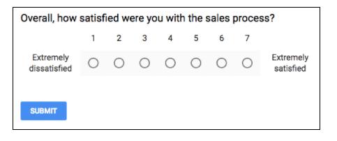 Sales satisfaction survey