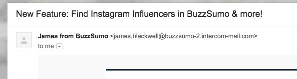 BuzzSumo email
