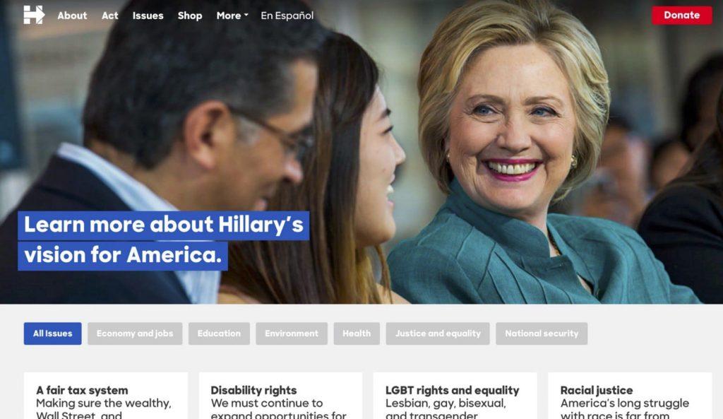 HRC campaign site