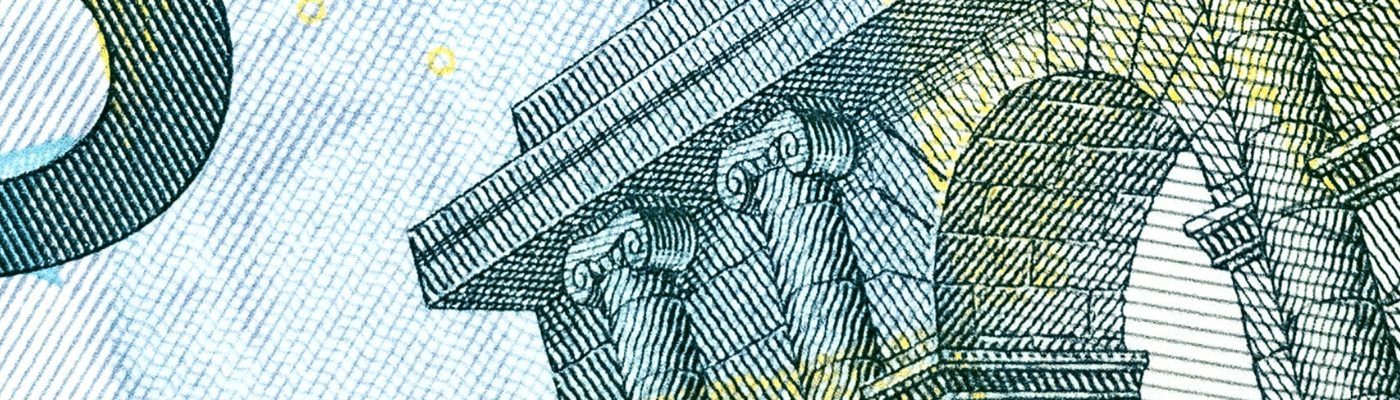 Detail of a bank note to show valuation