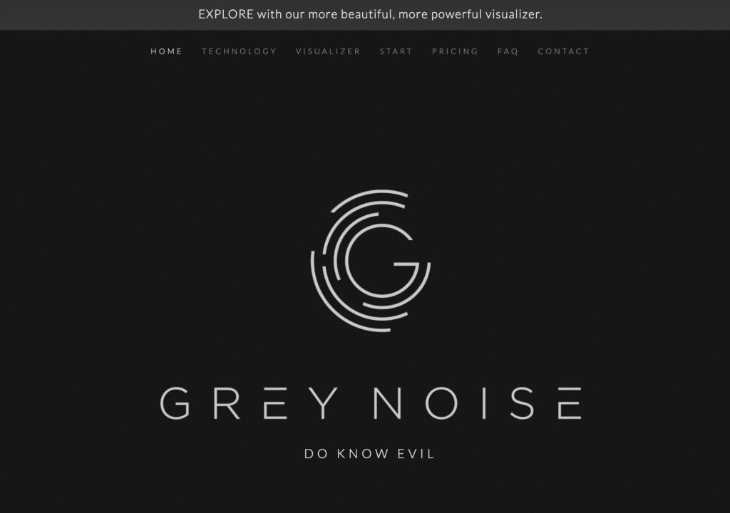 GreyNoise homepage