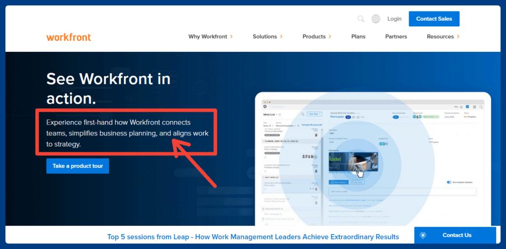 Workfront screenshot