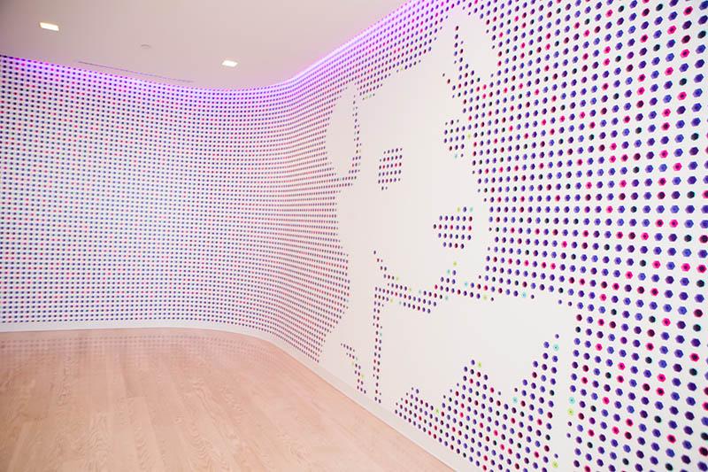 The lobby at Datadog HQ