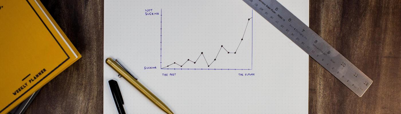 A chart trending upwards