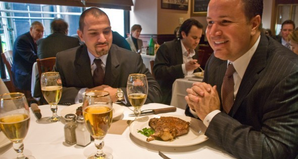A business lunch on Manhattan, 18 Nov. 2008