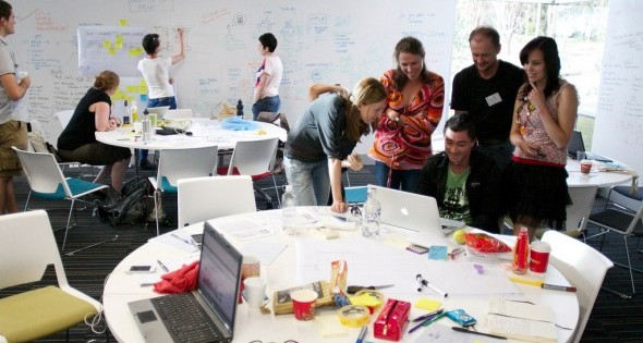 Teams working on ideas