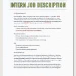 intern job description